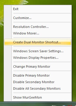 Dual Monitor Shortcut