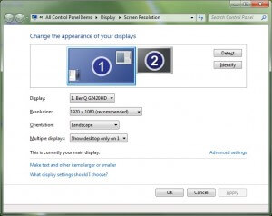 Dual Monitor Support in Windows 7